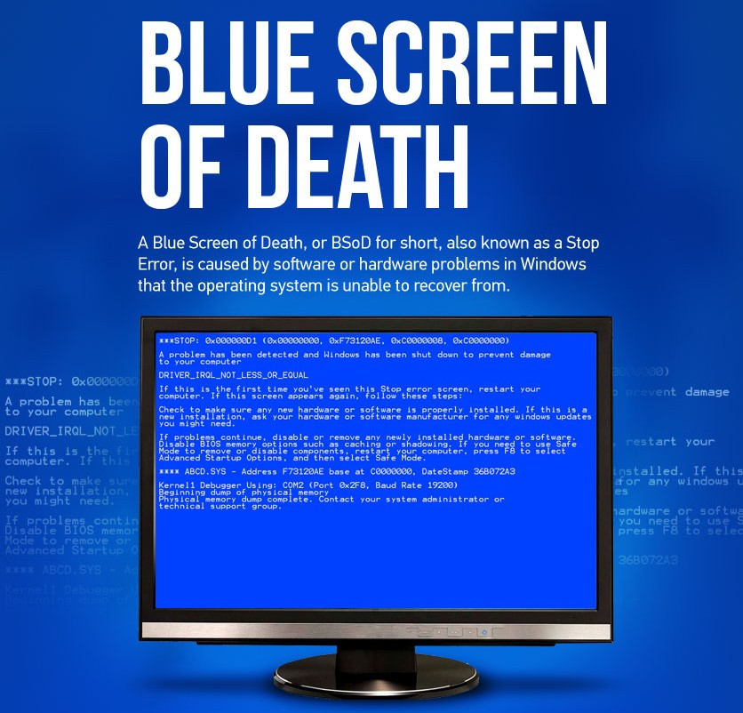 Blue Screen Error! Don't Panic! Here Are Some Tricks To Solve It