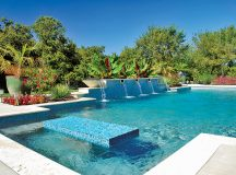 Blue Haven Pools Details and Granite Work